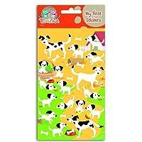 Téo et Zina Dogs and Puppies Sticker Board, Felt, multi-coloured, 18.5x 9.5x 0.2cm