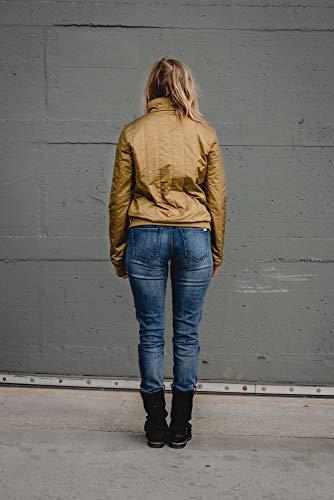THOKKTHOKK Damen Jacke Kapok Olivgrün Fair Vegan, Größe:S - 3