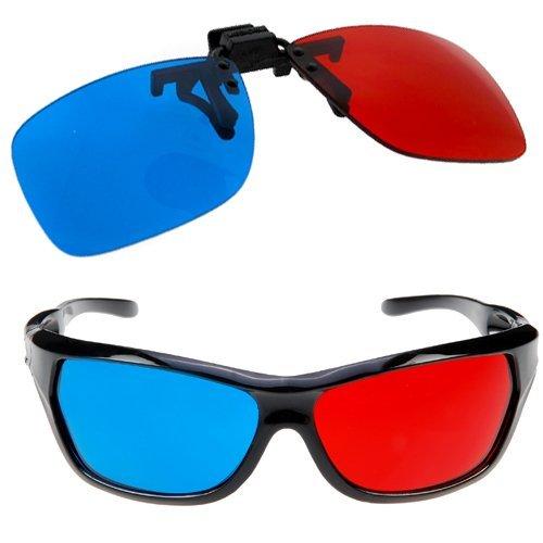 homiki kurzsichtigen Objektiv Set LED für Fernrohre recetados 3d Brille Glases Anaglyphen für Filme TV Stil cyan rot