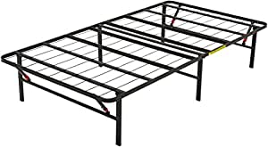 AmazonBasics Platform Foldable Steel Bed Frame, Black, Single