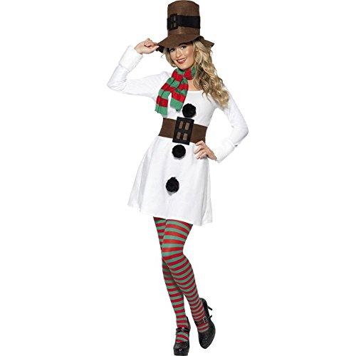 Damen Kostüm Schneefrau Schneemann Karneval Weihnachten Gr.L