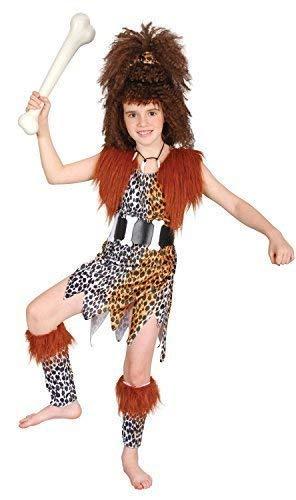 Fancy Me Mädchen Höhlenmädchen Höhlenmensch Perücke Prähistorisch Büchertag Woche Halloween Kleid Kostüm Schuhe 4-14 Jahre - Braun, 10-12 Years
