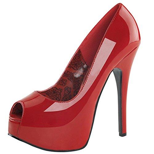 Heels-Perfect, Scarpe con plateau donna Rosso (Rosso (Rosso))