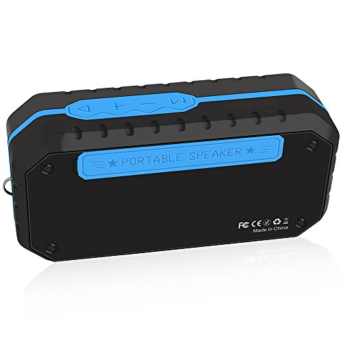 HD-Sound Eingebauter MicHands-Free-Anruf TF-Kartensteckplatz Tragbarer drahtloser Lautsprecher (Blau)