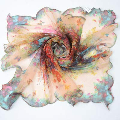 YOUR LIFE Seidenschal Schal, Holz Ohr kleines Quadrat Handtuch Garn Handtuch Magic Snow Gradient Farbe dunkel violett 4. -