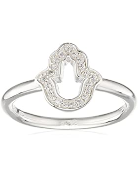 THOMAS SABO Damen Ring TR2076-051-14 Ring 925er Sterlingsilber Zirkonia Pavé Weiß Silberfarben, Weiß