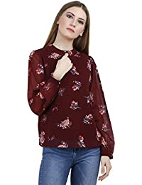 A Thousand Things Women's Maroon Floral Top