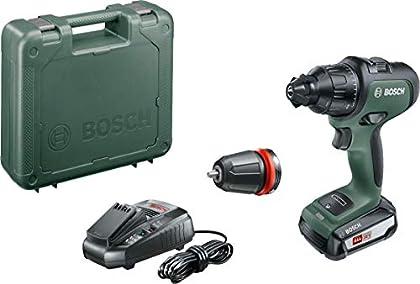 Bosch AdvancedImpact 18- Taladro percutor a batería (batería 18V, 2,5 Ah, cargador AL 1830 CV, HMI, en maletín)