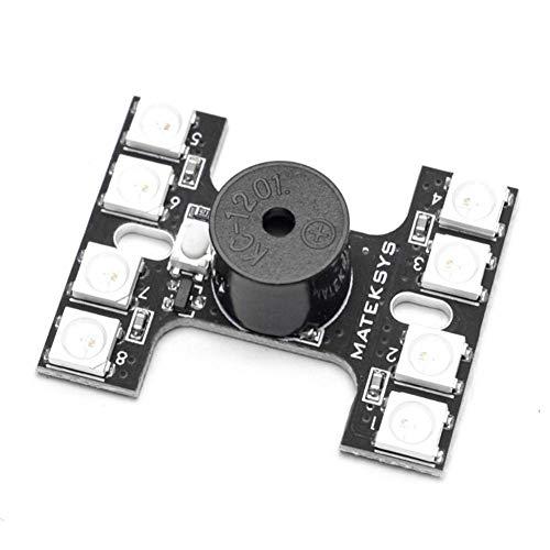iShinè_toys 2812-BH Matek H Type Feu Arrière Double Modes 8pcs WS2812B arrière LED Buzzer Fort Contrôleur pour FPV RC Drone Quadrirotor