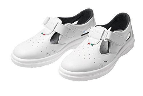 Sensi LYBRA S1 SRC protagonista, sandali con puntale in acciaio, colore bianco