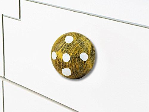 Indianshelf Handmade 10 Stück Holz dunkel Golden künstlerische Schublade Knöpfe Kommode Schrank zieht Möbel Kleiderschrank Türgriffe handgefertigte Designer Vintage Look WRK-10