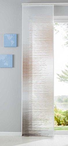 Shangrila Flächenvorhang Istanbul Farbverlauf transparent Schiebegardine Raumteiler Voile JacquardHxB 245x60 cm Kupfer, 10000147