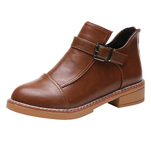 Botines cuña Tacón de Aguja para Mujer Otoño Invierno 2018 Moda PAOLIAN Botas clásicas de Cuero Botines Martin Plataforma Casual Zapatos Señora Calzado Piel Tacón Altas Dama Talla Grande