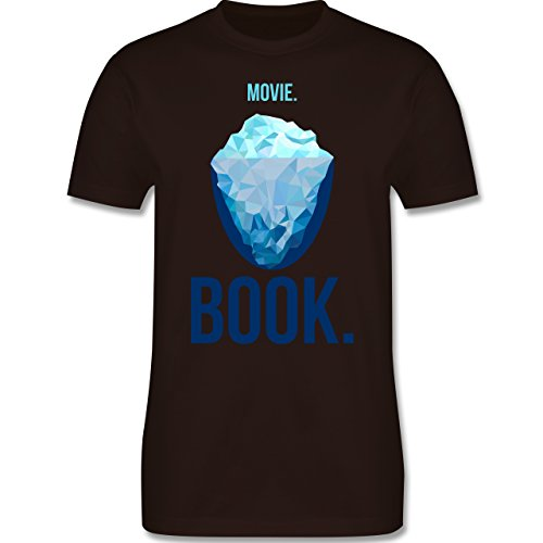 Nerds & Geeks - Movie vs Book - Herren Premium T-Shirt Braun