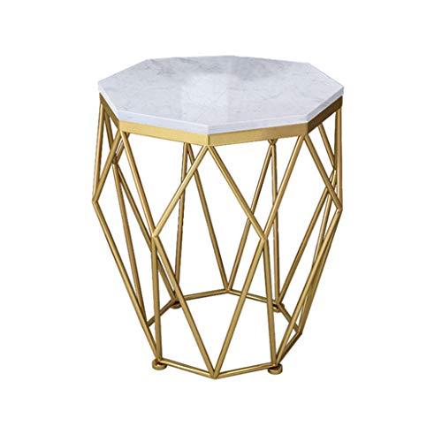 Rechteckige Frühstückstisch (ZXWDIAN Spieltisch Tisch der nordischen Tabelle Marmor Couchtisch rechteckigen Wohnzimmer Mode Schmiedeeisen Frühstückstisch (Farbe : Gold, größe : 50 * 100 * 45CM))