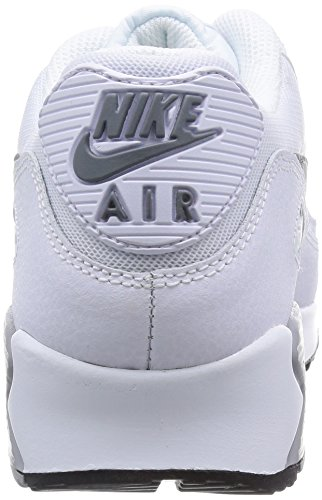 Nike Air Max 90 Essential, Baskets Basses Femme Gris (white/cool Grey-wolf Grey-blk 108)