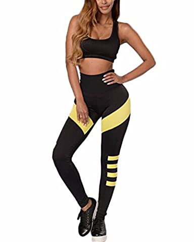 Auxo Women Sexy 2PCS Slim Stretchy Fitness Sets Casual Vest