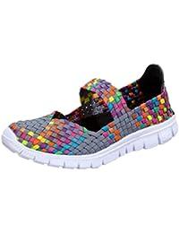 Zapatillas Mocasines Deportivos Respirable para Mujer,QinMM Malla elástico Sandalias Zapatos Alpargatas