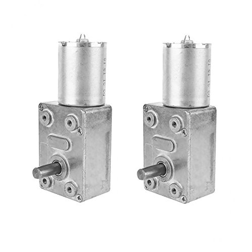 Sharplace DC 12V Gear Reduction Motor Getriebemotor Set/2Stück - 100RPM - Dc Serien Motor