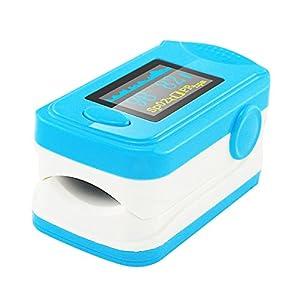 Denshine Pulsoximeter für die Fingerkuppe, mit Audio-Alarm, Pulston, Spo2-Bildschirm, farbiges OLED-Display