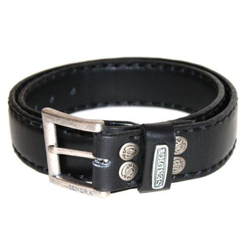 Gants ceinture en cuir rembourrée de bottes Noir