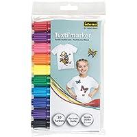 Idena 60035 Textilmarker für helle Stoffe, 10 Farben