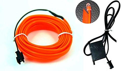 Preisvergleich Produktbild Ambientebeleuchtung EL Lichtleisten Neon Innenraumbeleuchtung Ambiente 1m 2m (Orange 2m)