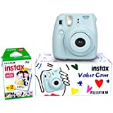 Fuji Instax Mini 8 Value Cam Instant Camera - Combo Offer (Camera + 20 Instant Films) (Blue)