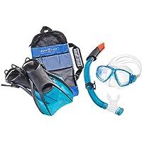 Aqua Lung Sport La Costa Travel Deluxe 3er Set (Tauchmaske, Schnorchel & Flossen) inkl. Beutel