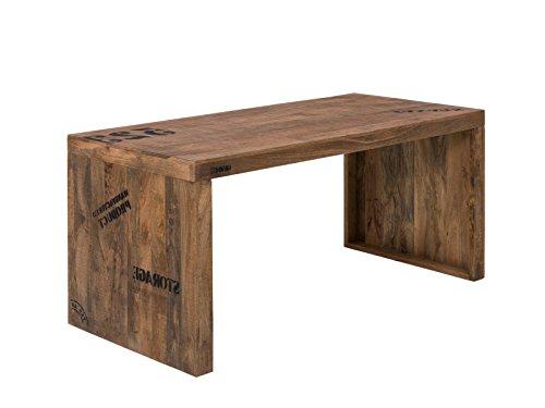 Woodkings Schreibtisch Oder Esstisch Hankey 160cm, Echtholz Rustikal, Mango  Holz, Arbeitstisch,.