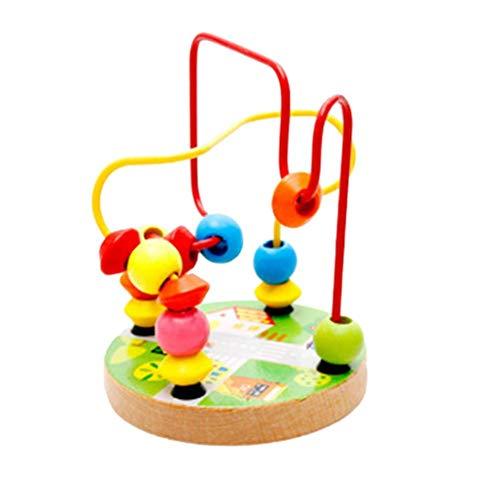 iStary Kinderspielzeug Baby Puppe Kinder Lernspielzeug Perlen String Beads Holz Buche Kleine Runde Perlen Intelligenz Entwickeln Bestes Geschenk Geeignet Für Kinder Über 1 Jahr Alt