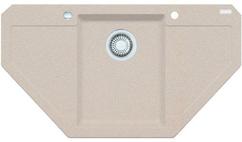Preisvergleich Produktbild Franke Maris MRG 612-E Beige Fragranit Eckspüle Küchenspüle Spülbecken Auflage
