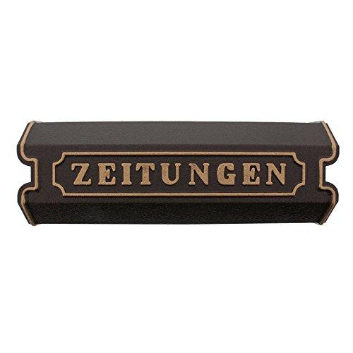 BURG-WÄCHTER, Zeitungsbox mit Beschriftung, Alu-Guss, 1890 BC, Bronze
