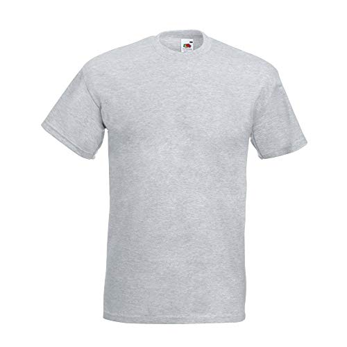 Fruit of the Loom - Heavy T-Shirt 'Super Premium T' L,heather grey L,Heather Grey -