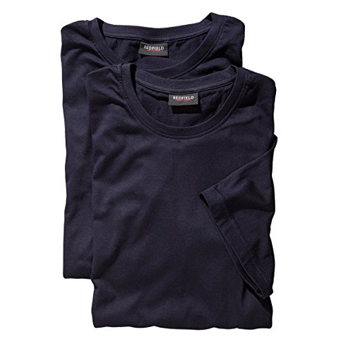 Redfield T-Shirt Doppelpack Rundhals Blau 6XL -