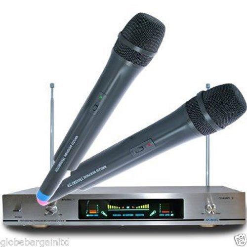 GBL® AK-8600 Premium Qualität neue Wireless Mikrofonsystem Dual Handheld 2 x Mikrofon Empfänger (Neue Wireless-mikrofon)