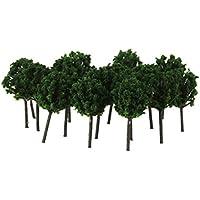 50 Stk. Modellbahn Bäume Landschaft Landschaft Dunkelgrün 1: 300