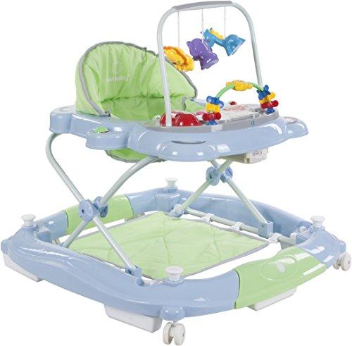 Sun Baby Rocker Bear - Andador para bebé, color verde y azul
