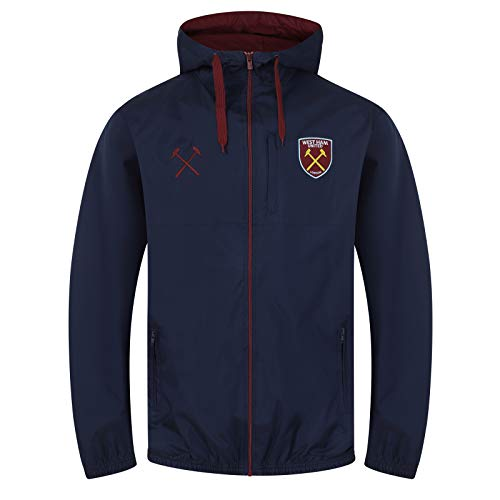 West Ham United FC officiel - Coupe-vent/Imperméable thème football - homme - Bleu marine - M