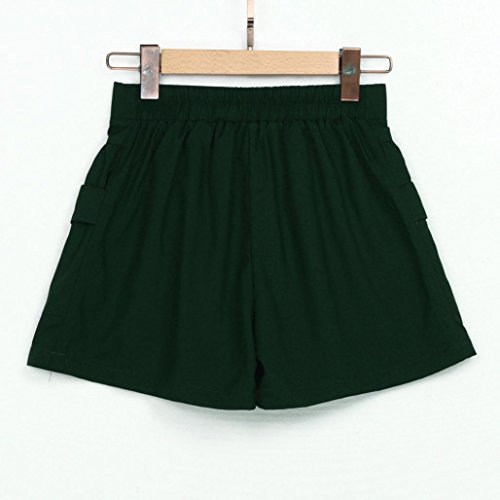 FNKDOR Summer Women Short Leg Shorts décontractés pour femmes Loose High Waist Short Shorts vert