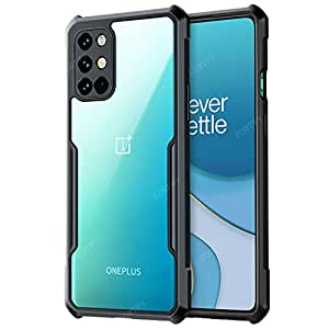 RIGGEAR® Fortify XUNDD Transparent Hybrid Hard PC Back TPU Bumper Impact Resistant MIL-STD 810G Drop Tested Case/Cover for OnePlus 8T (Black)