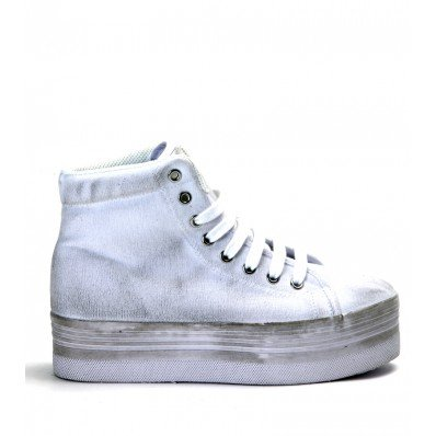 JC PLAY BY JEFFREY CAMPBELL HOMG WASHED CANVAS WHITE (37)