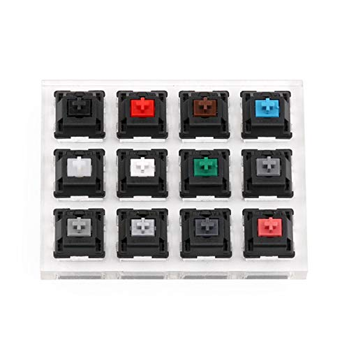 TOOGOO Acryl Tastatur Tester 12 Klare Plastik Tastkappen Sampler Für Cherry Mx Switches -