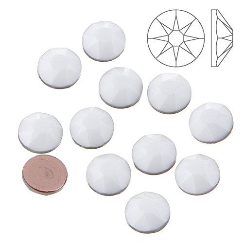 Kreide Weiße Kostüm - Swarovski Hotfix 2078Kristalle Kreide weiß (SS34) 12Stück