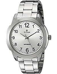Titan Analog White Dial Men's Watch -NJ1585SM04C