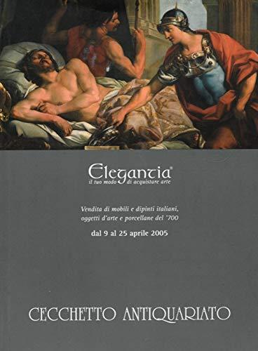 Vendita di mobili e dipinti italiani, oggetti d'arte e porcellane del '700.