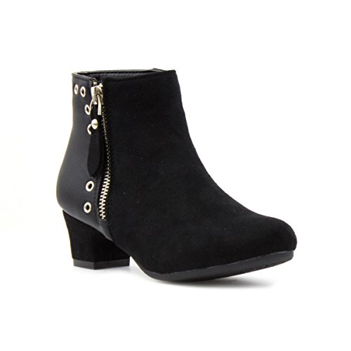 Lilley Girls Heeled Ankle Boot in Black - Size 3 - Black