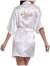 Pijama de Seda Corto Puro del Traje del Kimono de Las Mujeres para el Banquete de