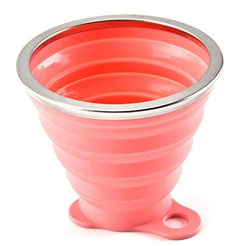 PanDaDa Tasses à café,Tasses, Mugs et soucoupes,Tasse à café pliée en Silicone,mug Noel, Mug Personnalisable Original idée Cadeau pour Femme et Homme,Rose