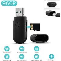 SANNCE Mini Cámara espía oculta USB 2.0 960P HD Portátil de vigilancia con un Micrófono incorporado